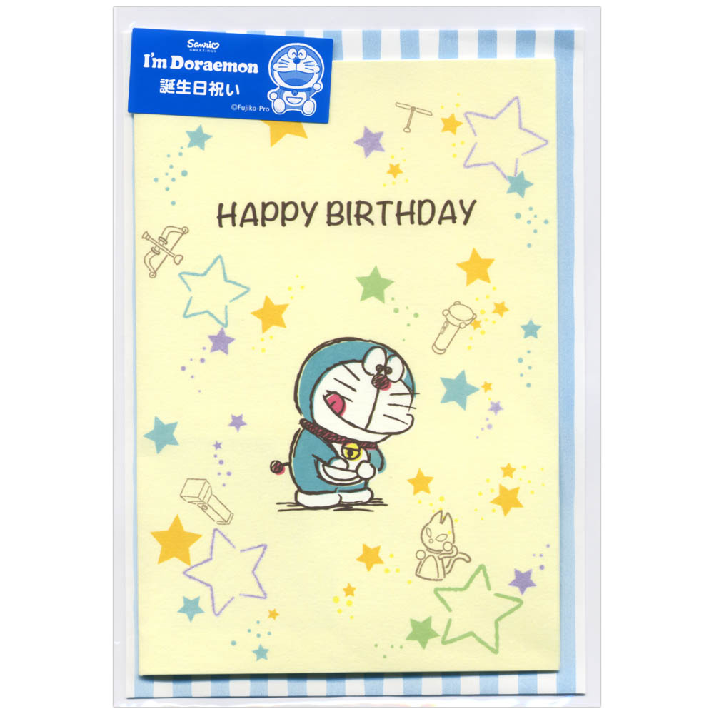 Ashiya Hori Mansho Do 對誕生日彈出卡哆啦a夢口袋手p1902生日祝賀卡三