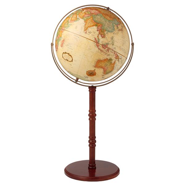 リプルーグル地球儀 コモドール2型 英語版 22839 球径40cm 行政型 山岳起伏加工 照明なし ワールド・クラシック・シリーズ