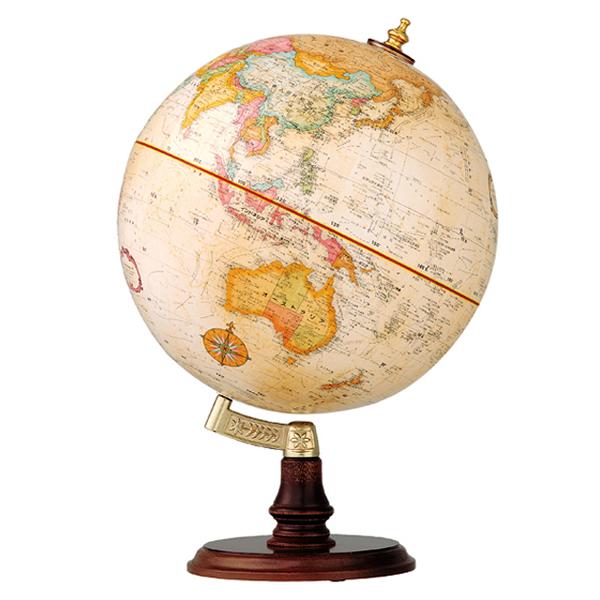 (3/31-4/1割引クーポン対象品) リプルーグル地球儀 クランブルック型 英語版 31400 球径30cm 行政型 山岳起伏加工 照明なし ワールド・オーシャン・シリーズ