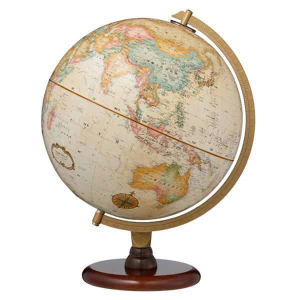 (3/31-4/1割引クーポン対象品) リプルーグル地球儀 リノックス型 日本語版 31573 球径30cm 行政型 山岳起伏加工 照明なし ワールド・クラシック・シリーズ