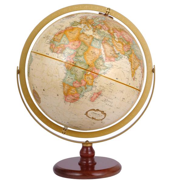 (3/31-4/1割引クーポン対象品) リプルーグル地球儀 ラ・グレンジ型 英語版 31804 球径30cm 行政型 山岳起伏加工 照明なし ワールド・クラシック・シリーズ