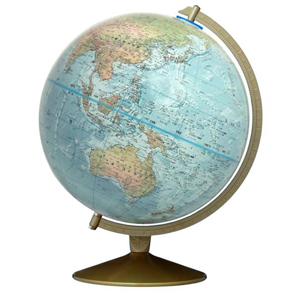 (3/31-4/1割引クーポン対象品) リプルーグル地球儀 マリナー型 英語版 33500 球径30cm 地勢型 山岳起伏加工 照明なし ワールド・オーシャン・シリーズ