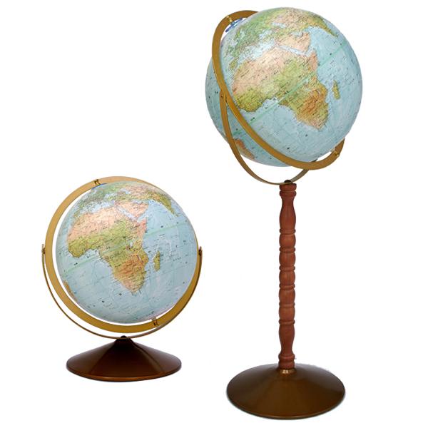 (3/31-4/1割引クーポン対象品) リプルーグル地球儀 シーフェアラー型 英語版 33813 球径30cm 地勢型 山岳起伏加工 照明なし ワールド・オーシャン・シリーズ