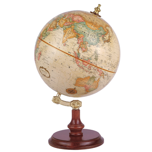 リプルーグル地球儀 リンカーン型 英語版 51400 球径23cm 行政型 山岳起伏加工 照明なし ワールド・クラシック・シリーズ
