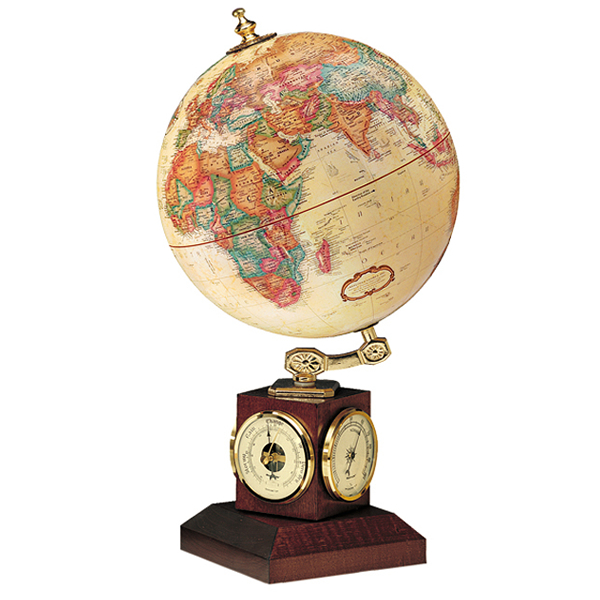 リプルーグル地球儀 ウェザーウォッチ型 英語版 51403 球径23cm 行政型 山岳起伏加工 照明なし ワールド・クラシック・シリーズ