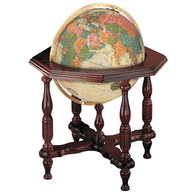 (3/31-4/1割引クーポン対象品) リプルーグル地球儀 ステイツマン型 英語版アンティーク地図 65007 球径50cm 行政型 照明付