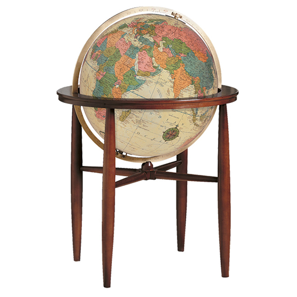 リプルーグル地球儀 フィンレイ型 英語版アンティーク地図 65032 球径50cm 行政型 照明付