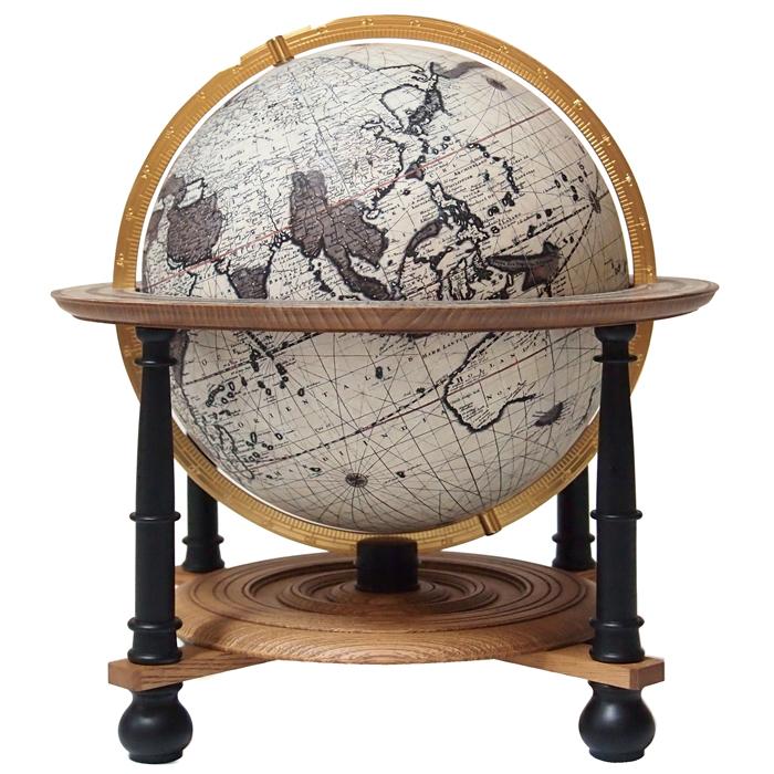 渡辺教具製作所 ファルク地球儀レプリカ W-0211 木台 球径21cm 3分の2サイズ