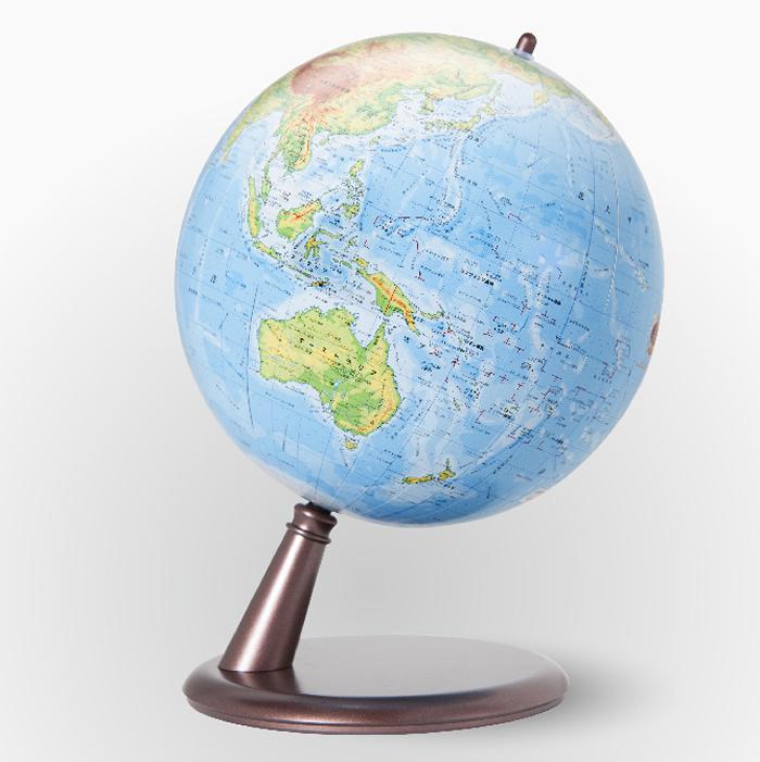 渡辺教具製作所 地球儀 CT(地勢) W-2001 プラスチック台 球径20cm 縮尺6,380万分の1