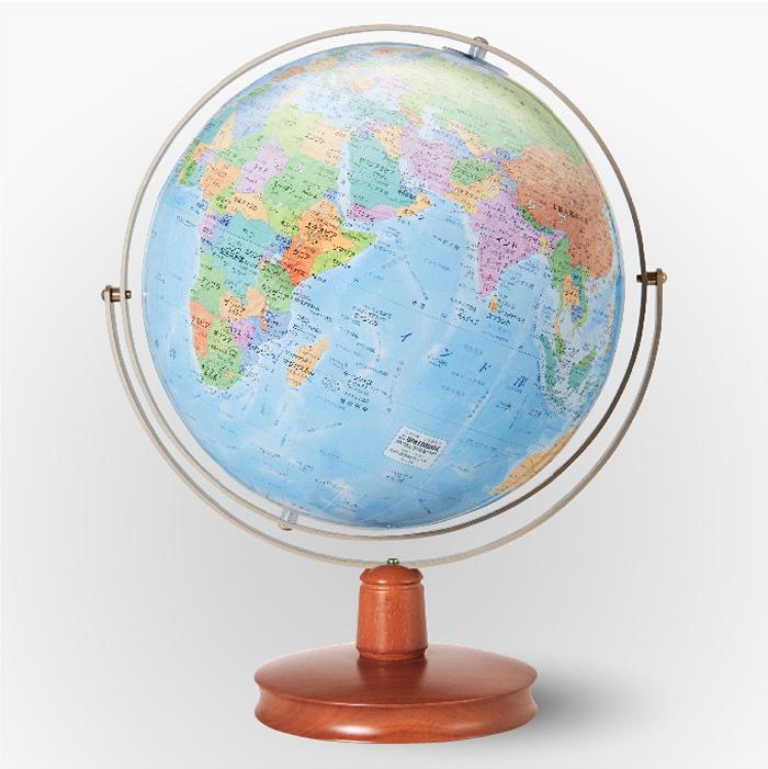 渡辺教具製作所 地球儀 WE ジェミニ(行政・地勢) W-2608 木台 球径26cm 縮尺4,850万分の1