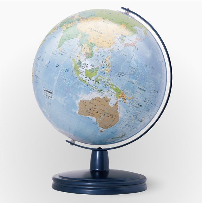 渡辺教具製作所 地球儀 光波ユニバーサル W-2610 スチール台 球径26cm 縮尺4,850万分の1