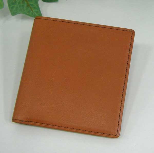 THINLY スィンリー Bシリーズ 薄型2つ折財布 キャメル色 札入れ(小)スムース牛革タイプ SL-B-S02CAMEL