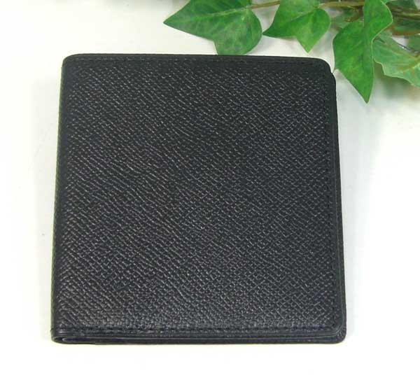 THINLY スィンリー Fシリーズ 薄型2つ折財布 ブラック 札入れ(小)キメの細かい型押しタイプ SL-F-S02BLK