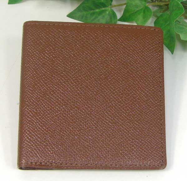 THINLY スィンリー Fシリーズ 薄型2つ折財布 ブラウン色 札入れ(小)キメの細かい型押しタイプ SL-F-S02BRW