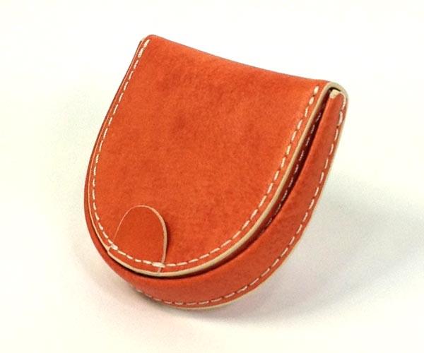 THINLY スィンリー Hシリーズ(ヌメ革) 馬蹄型小銭入 オレンジ色 SL-H-C02OR