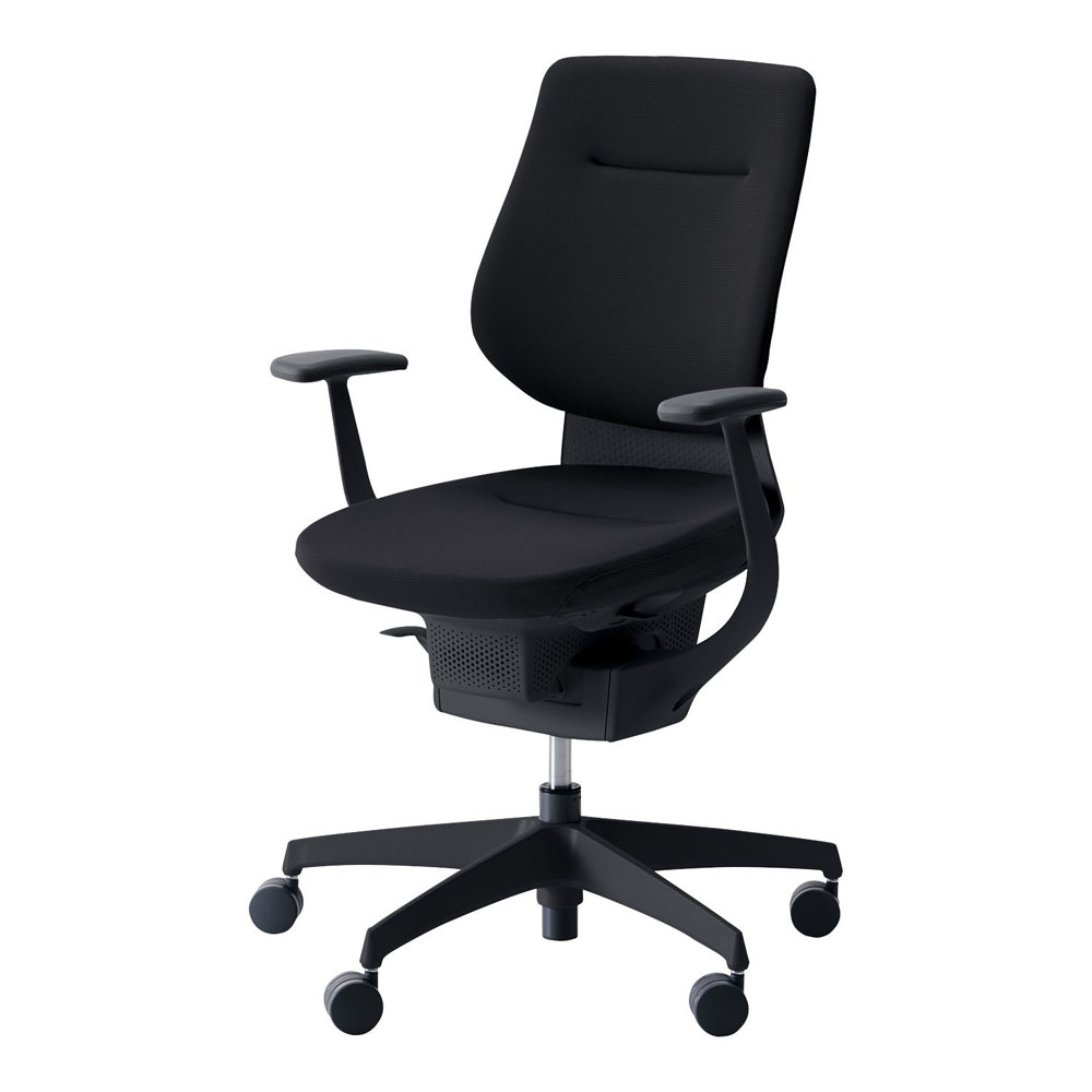 コクヨ オフィスチェア ing イング バーチカルタイプ ブラックシェル T型肘 樹脂脚 ブラック 背・座 ブラック CR-G3203E6-G4B6-(キャスター種類 要選択)