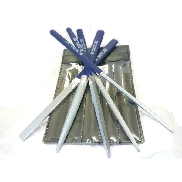 目がつまりにくい ヤスリ 削る 細目 SETヤスリ 5本組み 彫金 木工 ホビー 鉄 プラスチック アルミ 鋼 ステンレス 陶器 革新的な 平 三角 半丸 角 丸 ヤスリ ブライト900 BRST5053 ツボサン