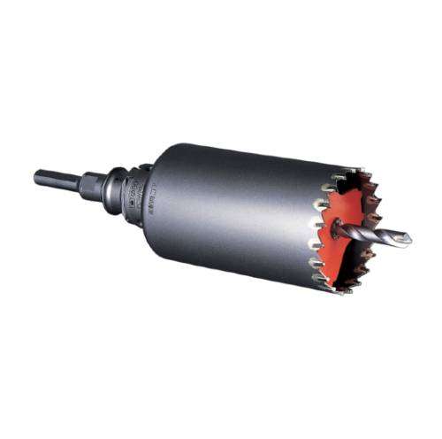 振動ドリルの打撃力 実物 回転力を有効に生かせる刃先形状 コアドリル 刃先径 180mm モルタル ブロック 金属系サイディングボード 窯業系サイディングボード 穴あけ 有名な ミヤナガ 現場 内装 カッター PCSW180R リフォーム 工事 SDSプラスシャンク 振動用コアドリルセット