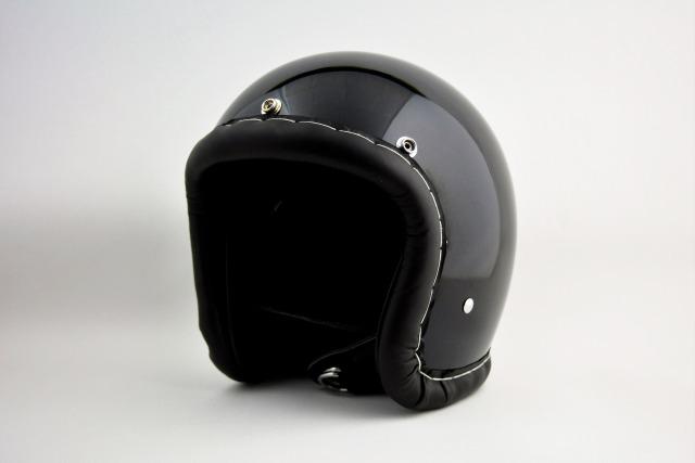 BICYCLE HELMET/HORIZON TIGHT SMALL JET /500-TX/タイト スモールジェットヘルメット/レザートリム/ブラック/検索ワード(装飾用、ビンテージヘルメット、軽量、ハーレー、アメリカン、ストリート)