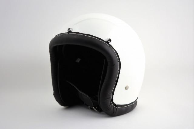 BICYCLE HELMET/HORIZON TIGHT SMALL JET /500-TX/タイトスモールジェットヘルメット/レザートリム/ホワイト/検索ワード(装飾用、ビンテージヘルメット、軽量、ハーレー、アメリカン、ストリート)