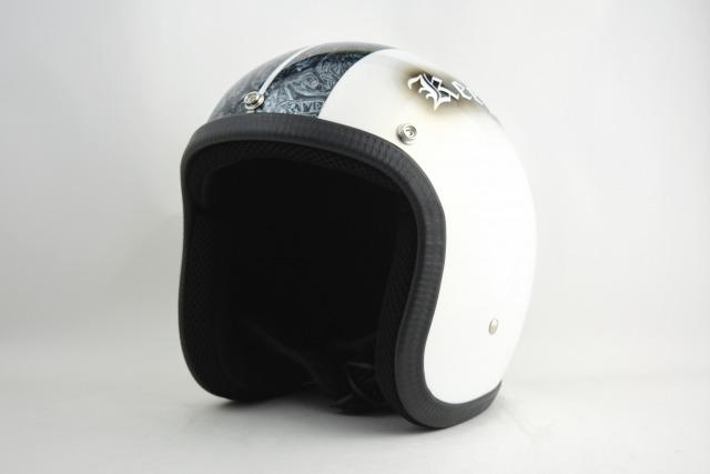 BICYCLE HELMET・HORIZONオリジナル/MINI JET/omjspbmw01/検索用ワード(ビンテージヘルメット、軽量、ハーレー、アメリカン、ストリート、ペイントヘルメット、キャンディー、ハンドメイド、エアブラシ、手塗り、カスタムぺイントおしゃれヘルメットノベルティー)