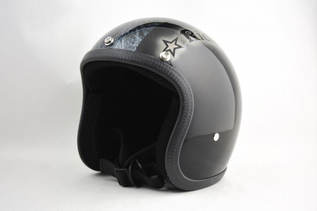 BICYCLE HELMET・HORIZONオリジナル/MINI JET/omjstarbmb02/検索用ワード(ビンテージヘルメット、軽量、ハーレー、アメリカン、ストリート、ペイントヘルメット、キャンディー、ハンドメイド、エアブラシ、手塗り、カスタムぺイントおしゃれヘルメットノベルティー)
