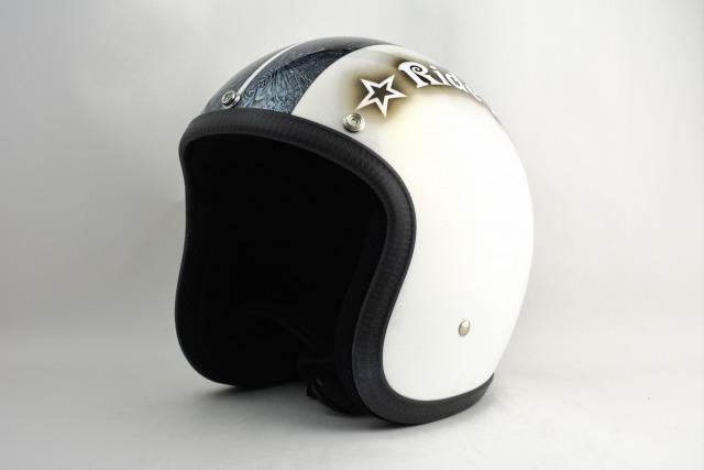 BICYCLE HELMET・HORIZONオリジナル/MINI JET/omjstarhmb02/検索用ワード(ビンテージヘルメット、軽量、ハーレー、アメリカン、ストリート、ペイントヘルメット、キャンディー、ハンドメイド、エアブラシ、手塗り、カスタムぺイントおしゃれヘルメットノベルティー)
