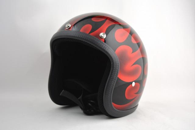 BICYCLE HELMET・HORIZONオリジナル/MINI JET/omjtr01rcrossg/検索用ワード(ビンテージヘルメット、軽量、ハーレー、アメリカン、ストリート、ペイントヘルメット、キャンディー、ハンドメイド、エアブラシ、手塗り、カスタムぺイントおしゃれヘルメットノベルティー)
