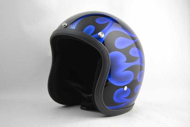 BICYCLE HELMET・HORIZONオリジナル/MINI JET/omjtr02bluecrossg/検索用ワード(ビンテージヘルメット、軽量、ハーレー、アメリカン、ストリート、ペイントヘルメット、キャンディー、ハンドメイド、エアブラシ、手塗り、カスタムぺイントおしゃれヘルメットノベルティー)