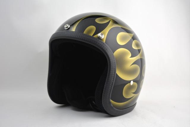 BICYCLE HELMET・HORIZONオリジナル/MINI JET/omjtr02goldcrossg/検索用ワード(ビンテージヘルメット、軽量、ハーレー、アメリカン、ストリート、ペイントヘルメット、キャンディー、ハンドメイド、エアブラシ、手塗り、カスタムぺイントおしゃれヘルメットノベルティー)