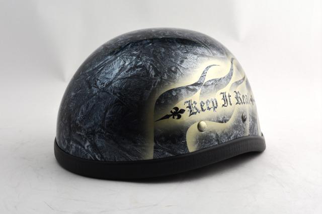 BICYCLE HELMET/EAGLE HALF HELMET/ohe02bfs2イーグルハーフヘルメット/カスタムペイント(検索ワード)マーブライザーキャンディーハーレーデザインペイントラップ塗装装飾用ダックテールアウトローアメリカンUSAノベルティーバイクバイカー半ヘル