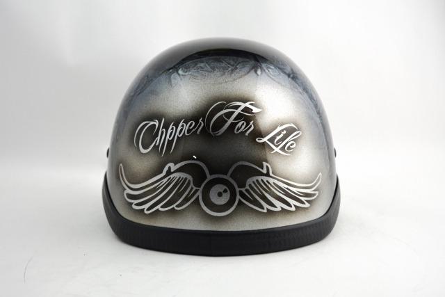 自転車用・BICYCLE HELMET/NOVELTY HAWK/ohhflyingeye04mbノベルティーヘルメット/カスタムペイント(検索ワード)マーブライザーキャンディーハーレーデザインペイントラップ塗装装飾用ダックテールアウトローアメリカンUSAノベルティーバイクバイカー半ヘル