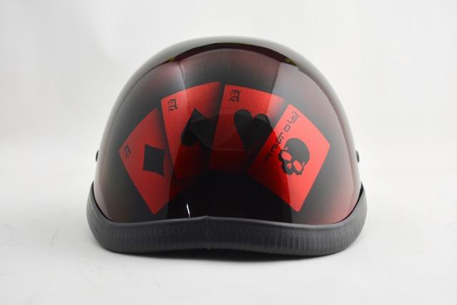 BICYCLE HELMET/EAGLE HALF HELMET/ohetrumpredイーグルハーフヘルメット/カスタムペイント(検索ワード)マーブライザーキャンディーハーレーデザインペイントラップ塗装装飾用ダックテールアウトローアメリカンUSAノベルティーバイクバイカー半ヘル
