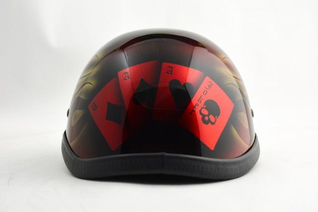 BICYCLE HELMET/EAGLE HALF HELMET/ohefrgtrumpredイーグルハーフヘルメット/カスタムペイント(検索ワード)マーブライザーキャンディーハーレーデザインペイントラップ塗装装飾用ダックテールアウトローアメリカンUSAノベルティーバイクバイカー半ヘル