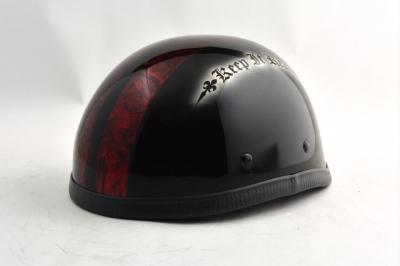 BICYCLE HELMET/EAGLE HALF HELMETohe02redline/イーグルハーフヘルメット/カスタムペイント(検索ワード)マーブライザーキャンディーハーレーデザインペイントラップ塗装装飾用ダックテールアウトローアメリカンUSAノベルティーバイクバイカー半ヘル