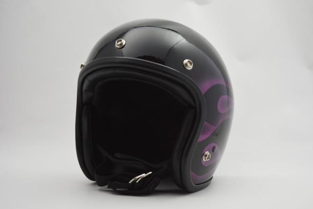 【受注生産】Skull Head JET HELMET/FRMS-Purple・スカルヘッドジェットヘルメット(検索ワード)スモールジェットJETSGマークSG規格小さい極小帽体スリムシェルストリートアメリカンハーレーミニジェットホライズンヘルメットHORIZON HELMETS