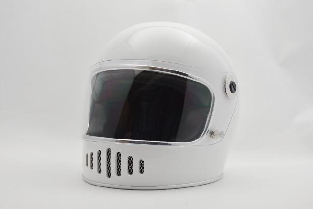 LAMP HELMET /ランプヘルメット/バイクヘルメット(ホワイト)