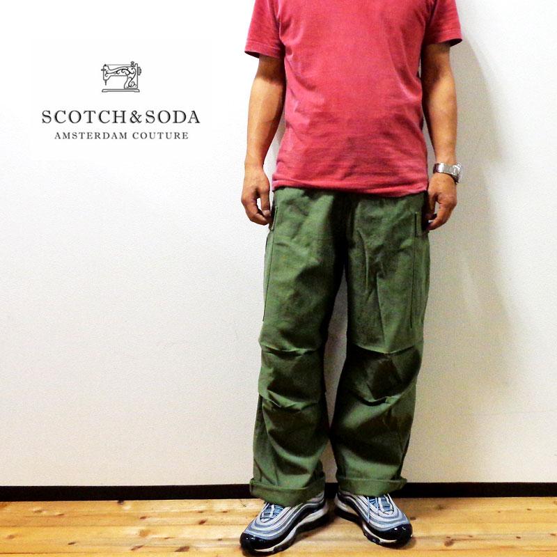 SALE♪【国内正規品】SCOTCH & SODA 『スコッチ・アンド・ソーダ』ワイドカーゴパンツ / Khaki[282-61522]