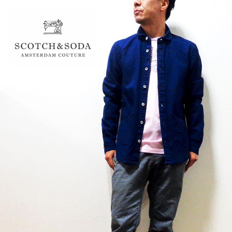 【送料無料】SCOTCH&SODA(スコッチ&ソーダ)デニム ロングスリーブ シャツ ジャケット 正規代理店経由[282-71412]