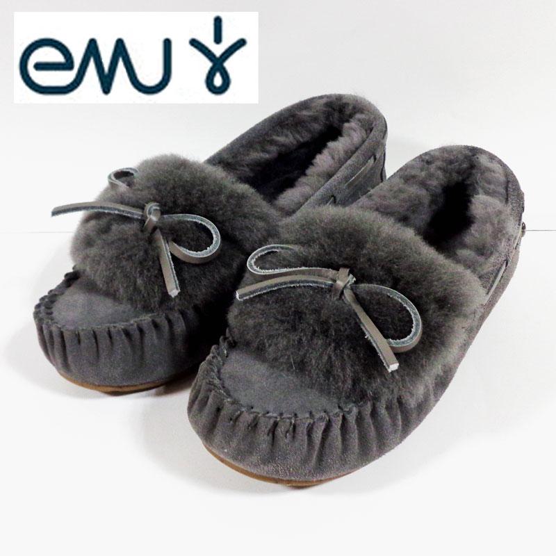EMUエミュー(emu) モカシン アミティー カフ AMITY CUFF W11200-Charcoal