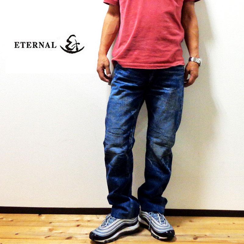 【送料無料】ETERNAL エターナル セルビッチ リアルユーズド加工 日本製 メンズ 802