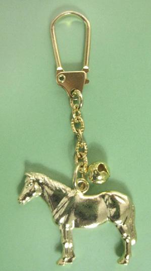 縁起の良い 売り込み 金の馬キーホルダー 立ち姿馬 激安