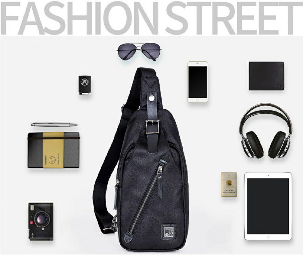 黒 グレー 多機能 ボディバッグ メール便 送料無料 メンズ ビジネス ブラック ショルダーバッグ bag 高機能性 通勤 新作製品 世界最高品質人気 多ポケット 合皮素材 バッグ 防水加工素材 マルチバッグ 購買 外出 通年