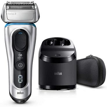 メーカー:BRAUN 発売日: ブラウン シリーズ8 8370cc-V メンズ電気シェーバー 5カットシステム 洗浄器付 水洗い/お風呂剃り可 除菌洗浄器付き 新品 在庫あり