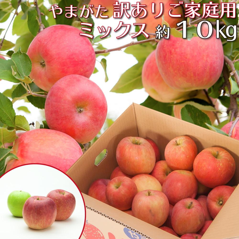 山形県産りんごを2品種以上の詰め合わせでお届けします スーパーSALE10%OFF 山形県産 りんご 訳あり ミックス 約10キロ ご家庭用 新作 大人気 産地直送 品種おまかせ 林檎 10kg お楽しみ 限定特価 沖縄および離島発送不可 リンゴ