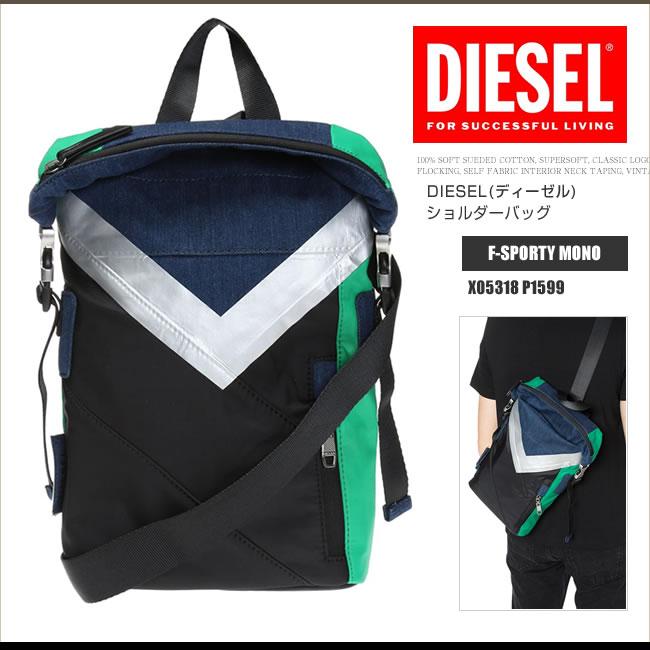 ディーゼル DIESEL ボディバッグ ワンショルダー X05318 P1599 F-SPORTY MONO ななめがけ DS2193