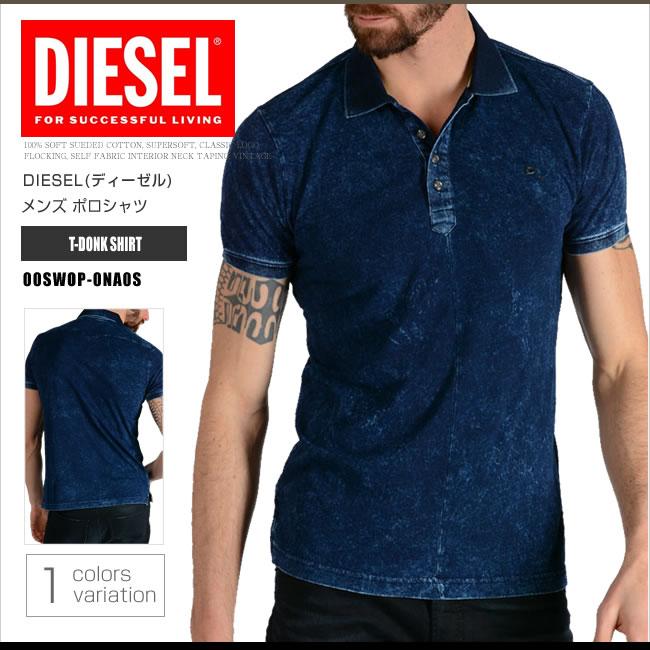 ディーゼル DIESEL ポロシャツ 半袖 メンズ 00SWOP-0NA0S T-DONK SHIRT インディコ ネイビー DS45031
