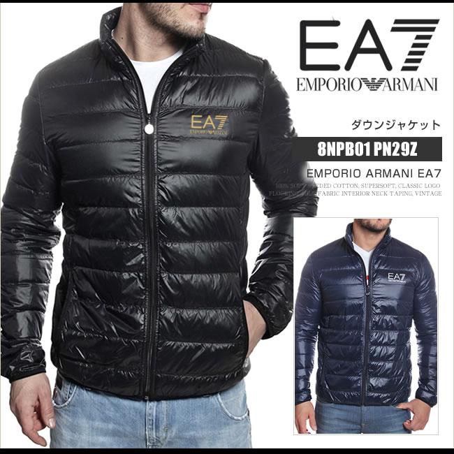 エンポリオアルマーニ EA7 ダウンジャケット メンズ ダウン アウター ゴルフウェア 8NPQ01 PN29Z ライトダウン スタンドカラー EA22003SL