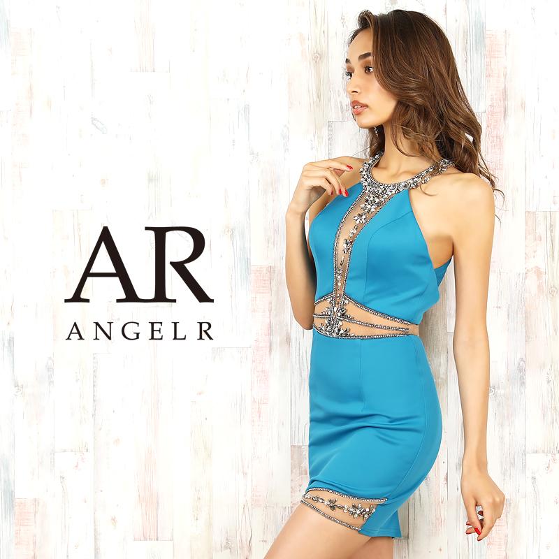 エンジェルアール シアー ビジューデザイン タイト ミニドレス 細身 国内在庫 高級キャバドレス 高級ドレス AngelR ドレス キャバ AR20220 ノースリーブ セクシー パーティードレス 肩出し ビジューデザインタイトミニドレス 売り込み