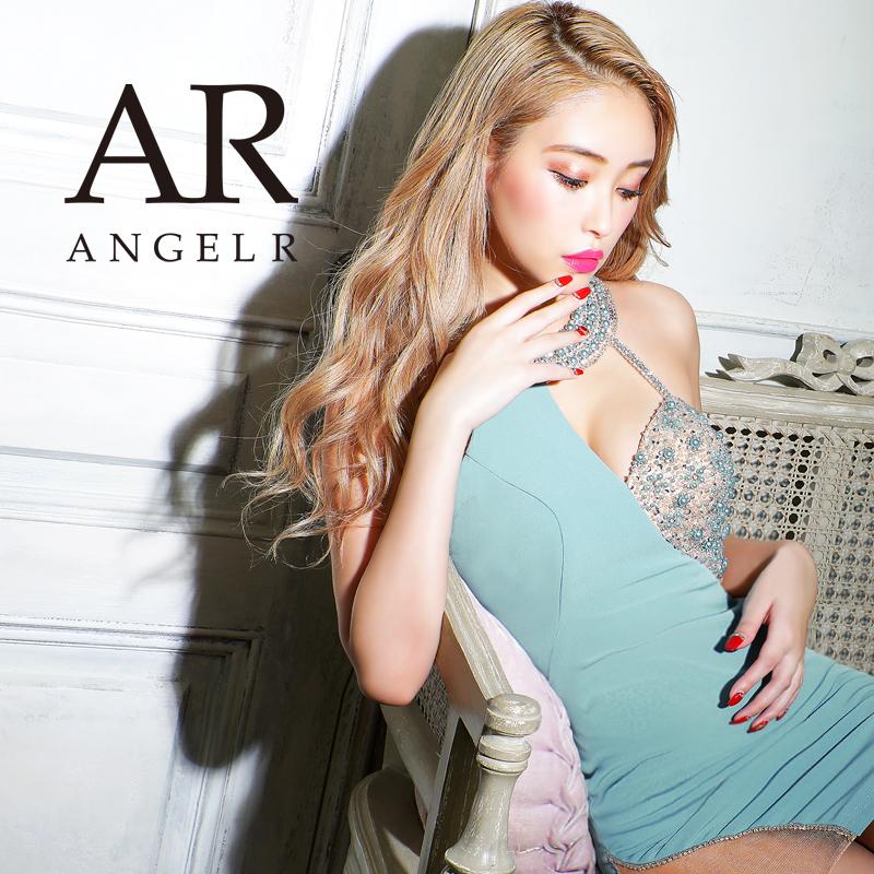エンジェルアール アシンメトリーバストビジュータイトミニドレス AngelR ※アウトレット品 パーティードレス オリジナル AR21306